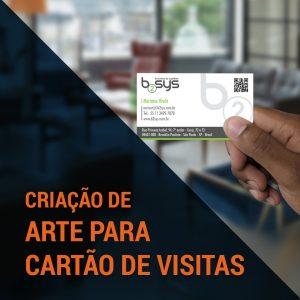 criação de arte para cartão de visitas